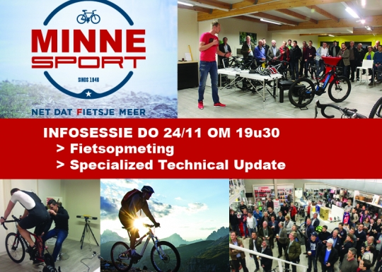 Infosessie 24/11 fietsopmeting & Technical update Specialized